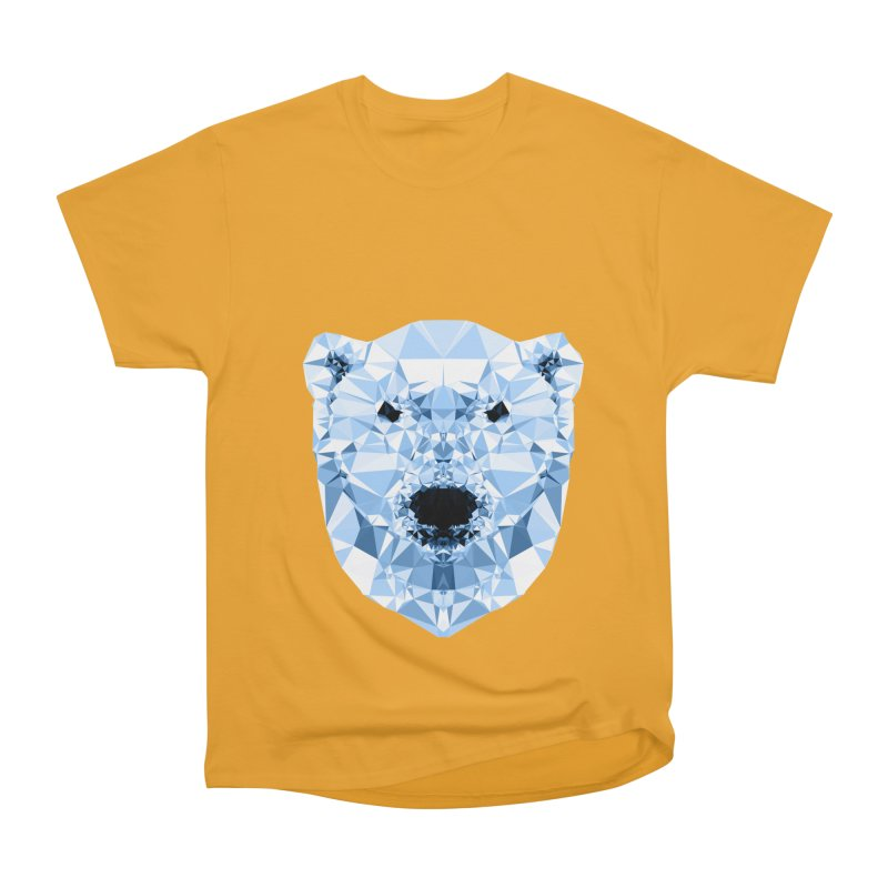 Geometric Polar Bear Men's Heavyweight T-Shirt by Andreas Lie