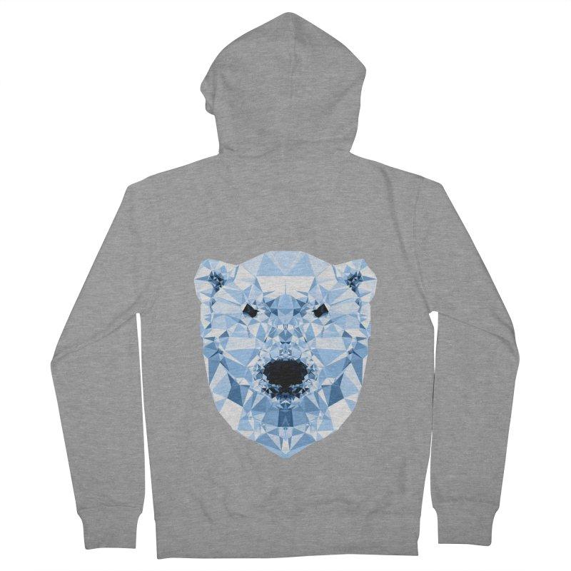 Geometric Polar Bear Men's Zip-Up Hoody by Andreas Lie
