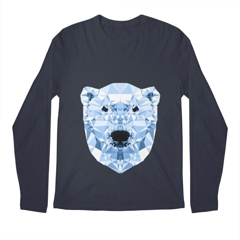 Geometric Polar Bear Men's Regular Longsleeve T-Shirt by Andreas Lie