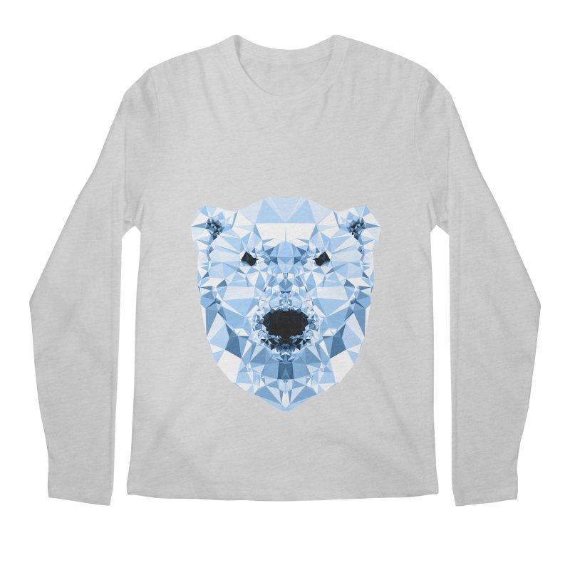 Geometric Polar Bear Men's Longsleeve T-Shirt by Andreas Lie