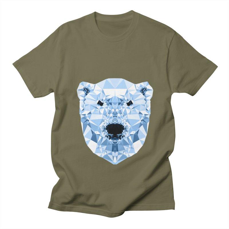 Geometric Polar Bear Women's Regular Unisex T-Shirt by Andreas Lie