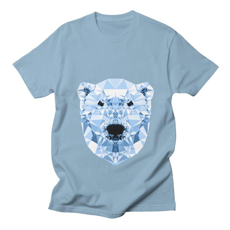 Geometric Polar Bear Men's T-Shirt by Andreas Lie