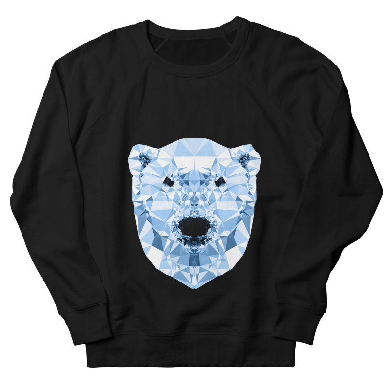 Geometric Polar Bear Women's French Terry Sweatshirt by Andreas Lie