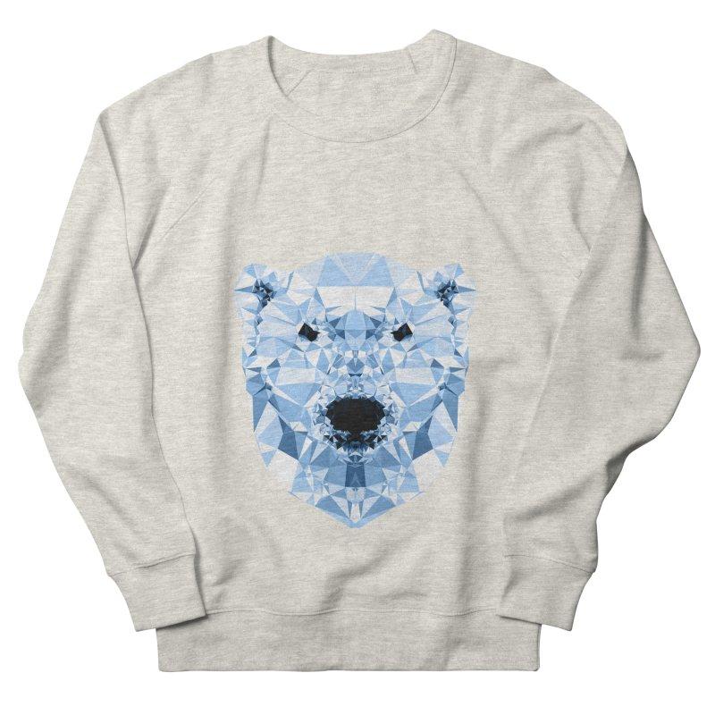 Geometric Polar Bear Women's French Terry Sweatshirt by Andreas Lie