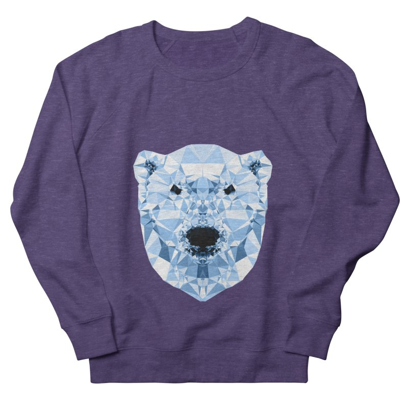Geometric Polar Bear Men's French Terry Sweatshirt by Andreas Lie