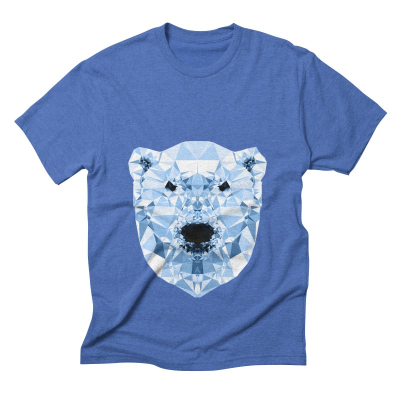 Geometric Polar Bear Men's Triblend T-Shirt by Andreas Lie