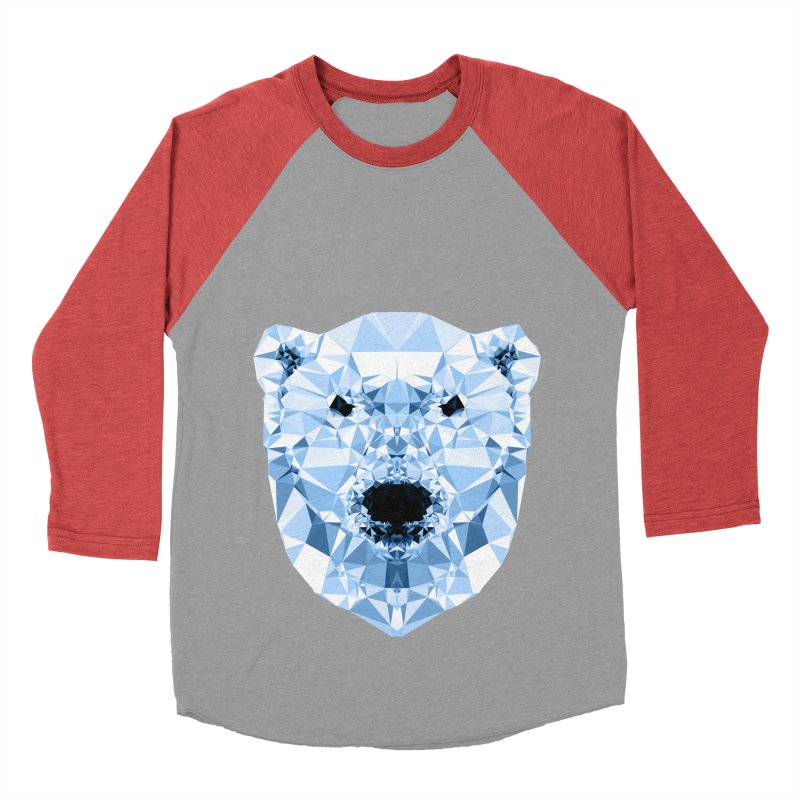 Geometric Polar Bear Women's Baseball Triblend Longsleeve T-Shirt by Andreas Lie