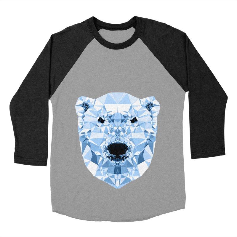 Geometric Polar Bear Women's Baseball Triblend Longsleeve T-Shirt by Andreas Lie