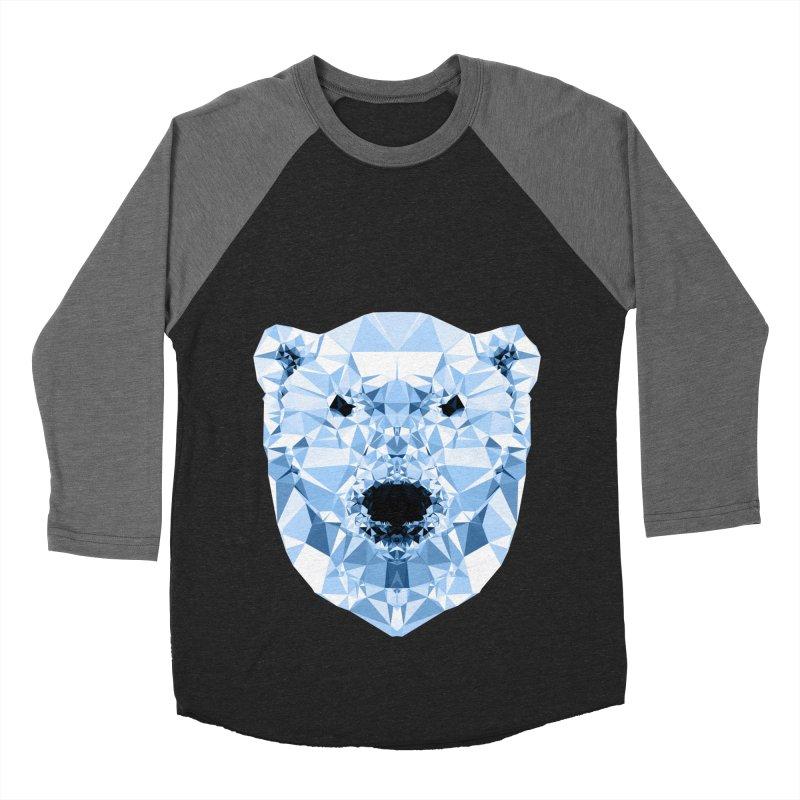 Geometric Polar Bear Men's Baseball Triblend T-Shirt by Andreas Lie