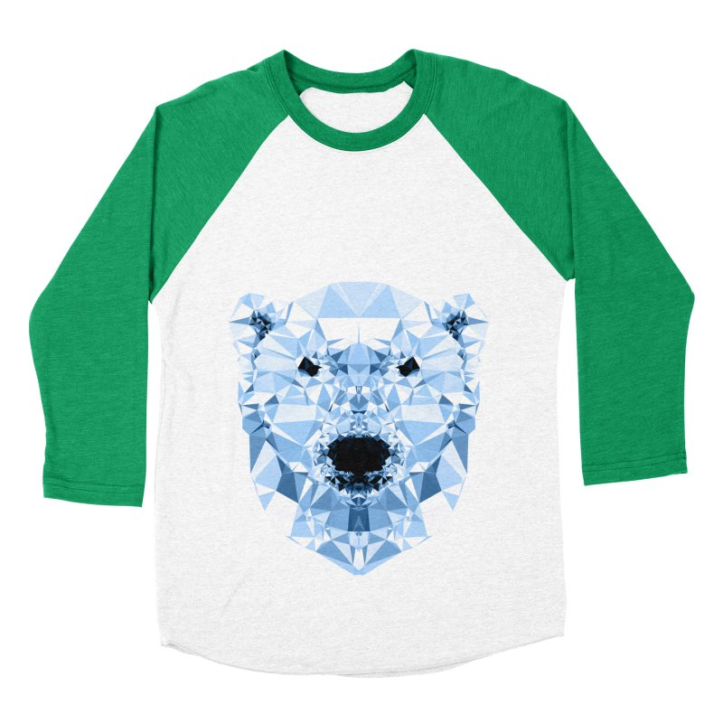 Geometric Polar Bear Men's Baseball Triblend Longsleeve T-Shirt by Andreas Lie