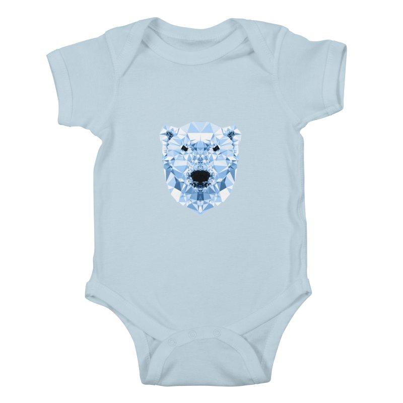 Geometric Polar Bear Kids Baby Bodysuit by Andreas Lie