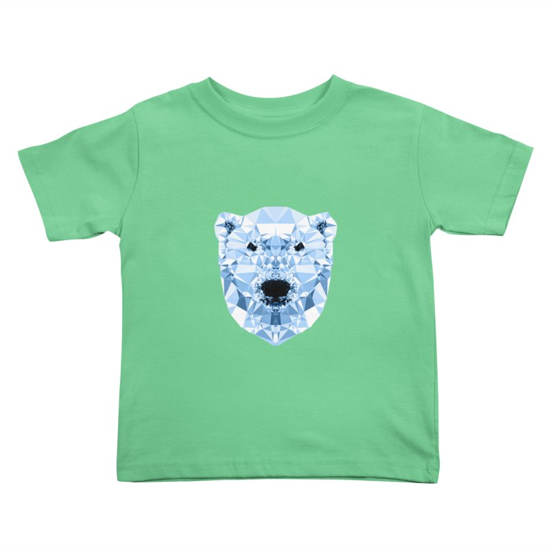 Geometric Polar Bear Kids Toddler T-Shirt by Andreas Lie