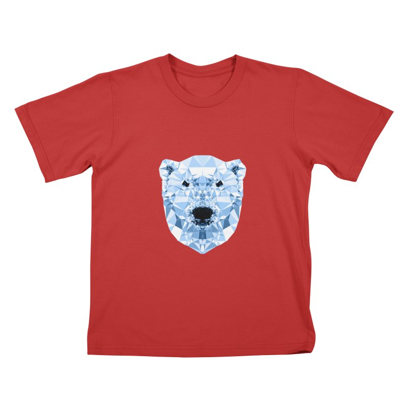 Geometric Polar Bear Kids T-Shirt by Andreas Lie