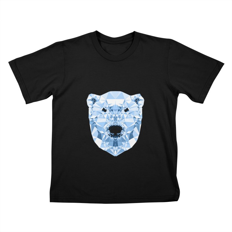 Geometric Polar Bear Kids T-Shirt by Andreas Lie