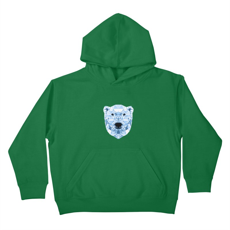 Geometric Polar Bear Kids Pullover Hoody by Andreas Lie