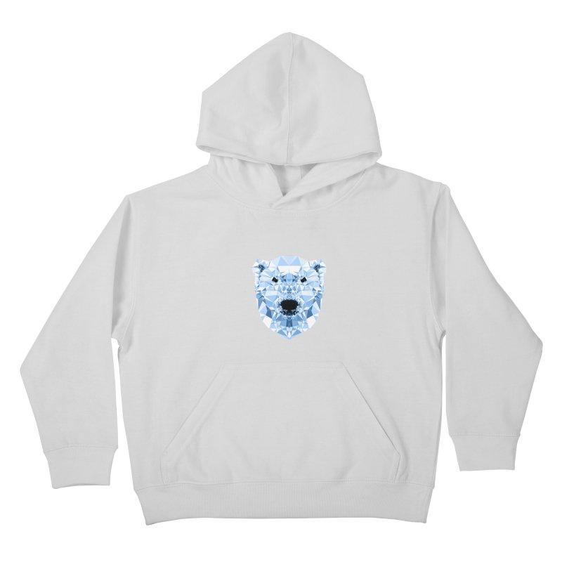 Geometric Polar Bear Kids Pullover Hoody by Andreas Lie