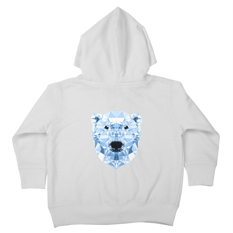 Geometric Polar Bear Kids Toddler Zip-Up Hoody by Andreas Lie