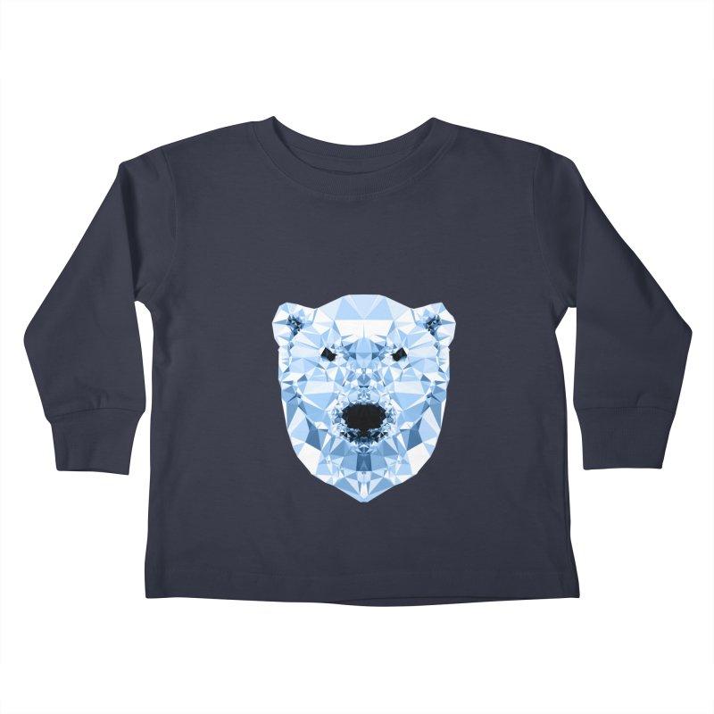 Geometric Polar Bear Kids Toddler Longsleeve T-Shirt by Andreas Lie