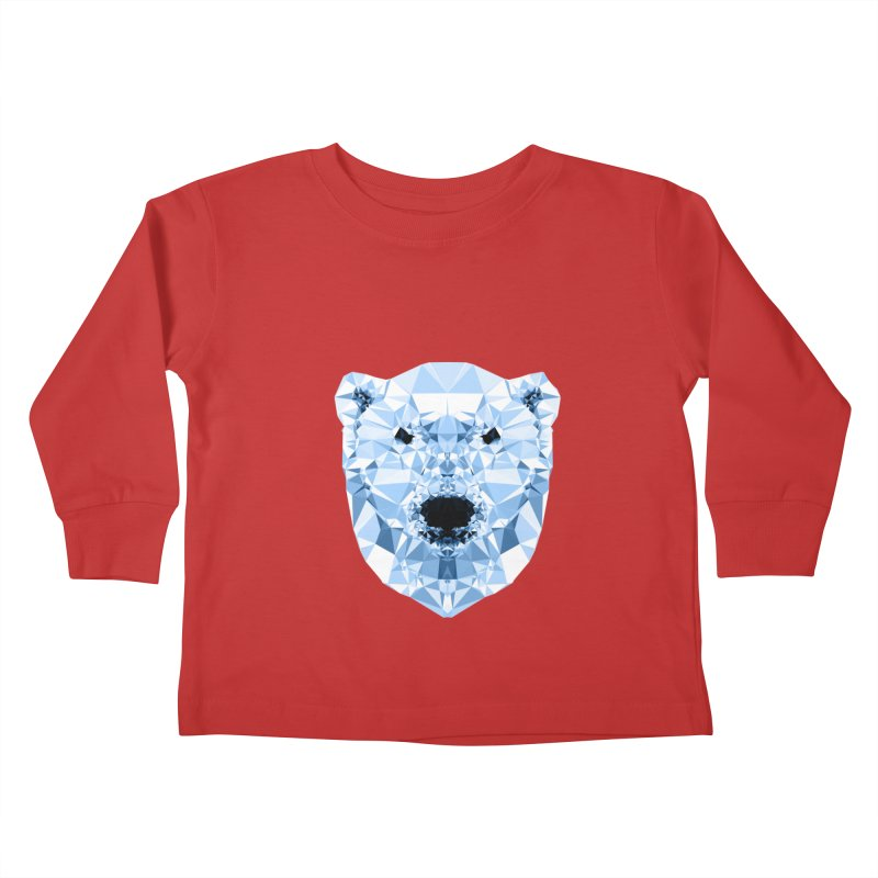 Geometric Polar Bear Kids Toddler Longsleeve T-Shirt by Andreas Lie