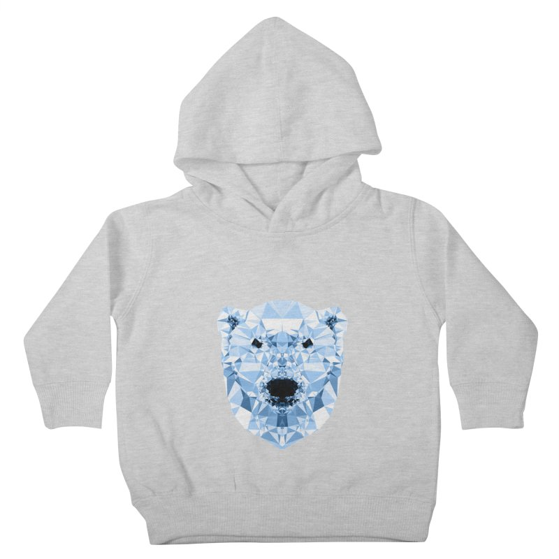 Geometric Polar Bear Kids Toddler Pullover Hoody by Andreas Lie
