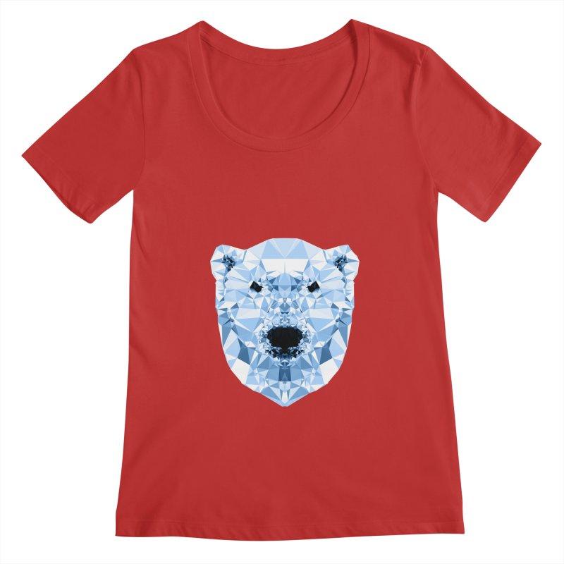 Geometric Polar Bear Women's Regular Scoop Neck by Andreas Lie