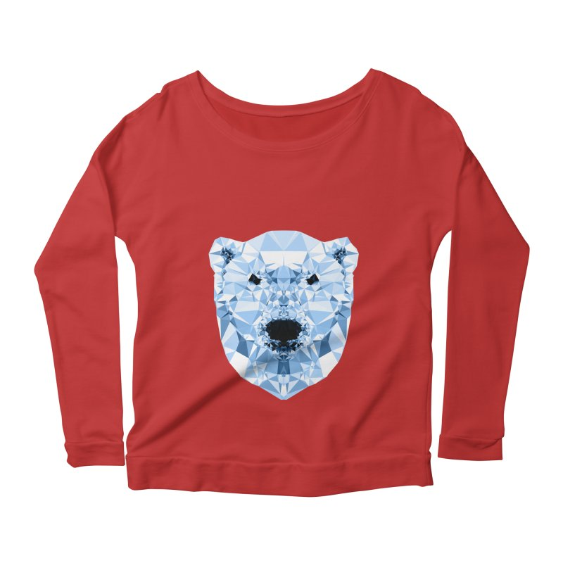 Geometric Polar Bear Women's Scoop Neck Longsleeve T-Shirt by Andreas Lie