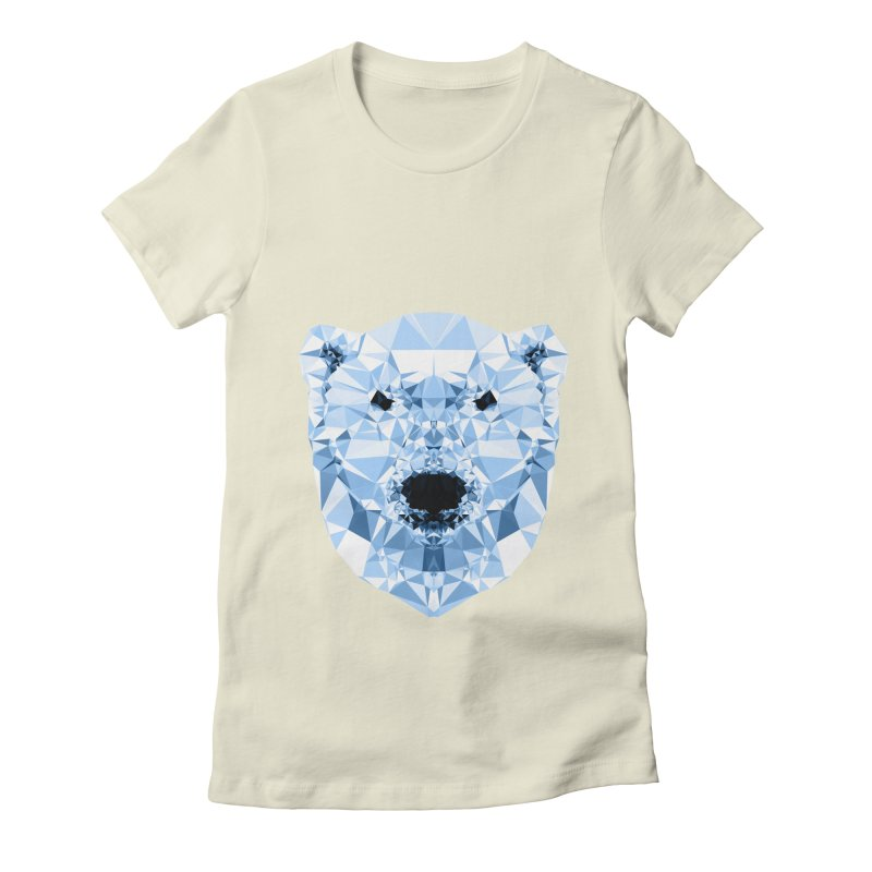 Geometric Polar Bear Women's Fitted T-Shirt by Andreas Lie