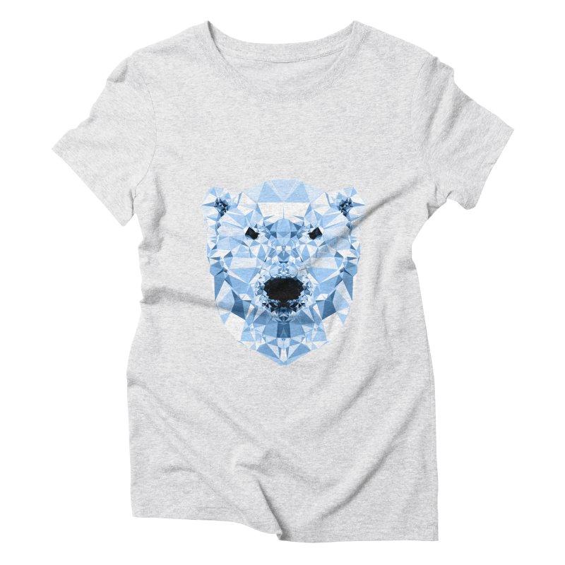 Geometric Polar Bear Women's Triblend T-Shirt by Andreas Lie