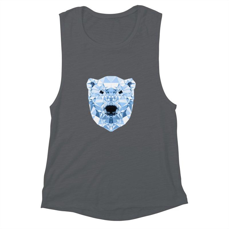 Geometric Polar Bear Women's Muscle Tank by Andreas Lie