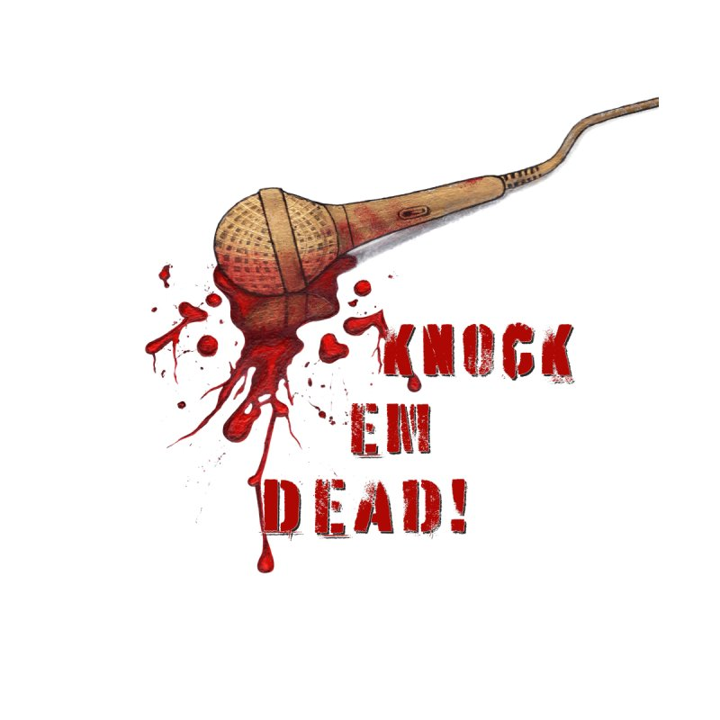 Knock Em Dead! Accessories Sticker by Andrea Snider's Artist Shop