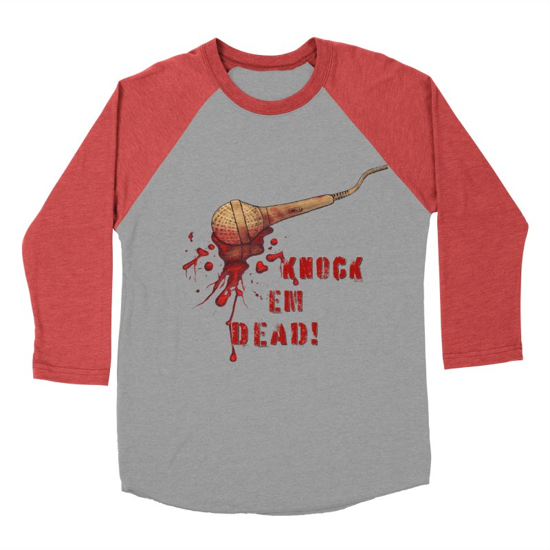 Knock Em Dead! Women's Baseball Triblend Longsleeve T-Shirt by Andrea Snider's Artist Shop