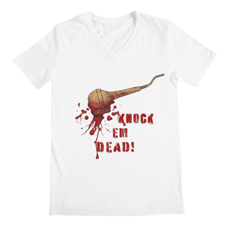 Knock Em Dead! Men's V-Neck by Andrea Snider's Artist Shop