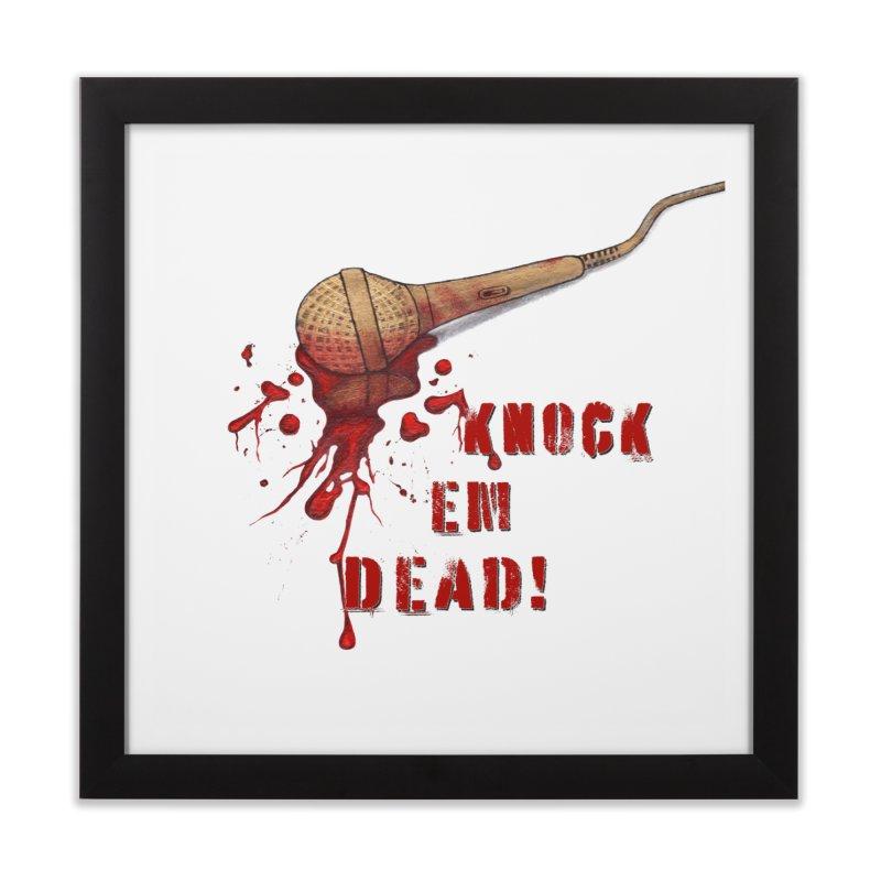 Knock Em Dead! Home Framed Fine Art Print by Andrea Snider's Artist Shop