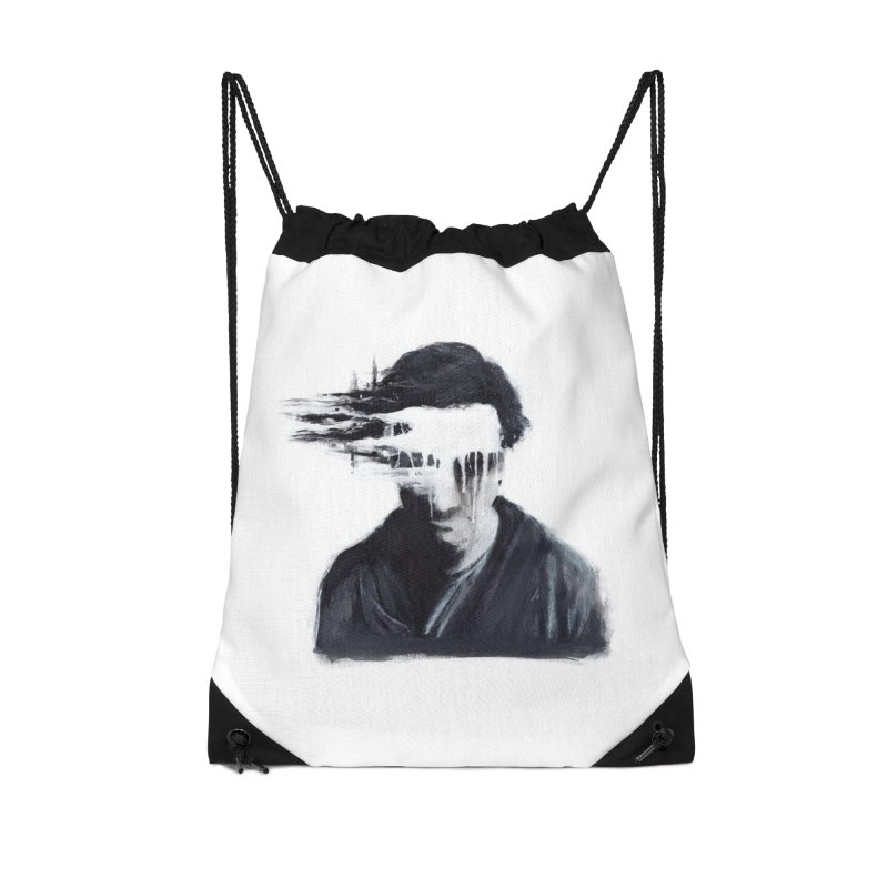What's Not Seen. Accessories Drawstring Bag Bag by Andrea Snider's Artist Shop