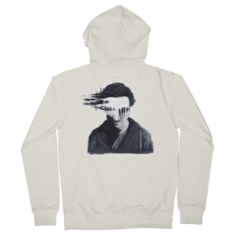 What's Not Seen. Men's French Terry Zip-Up Hoody by Andrea Snider's Artist Shop