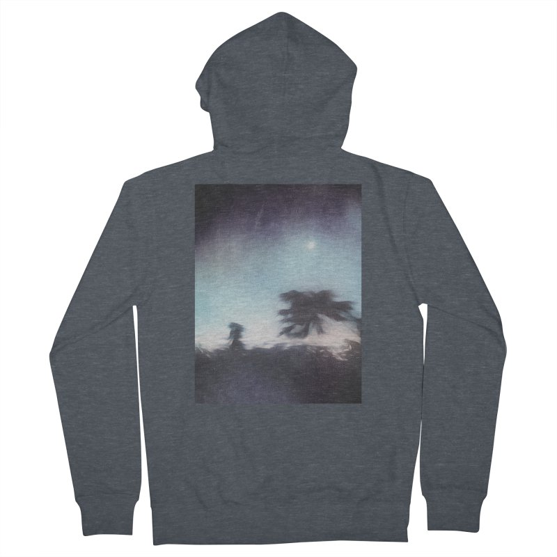 Keep Running. Men's French Terry Zip-Up Hoody by Andrea Snider's Artist Shop