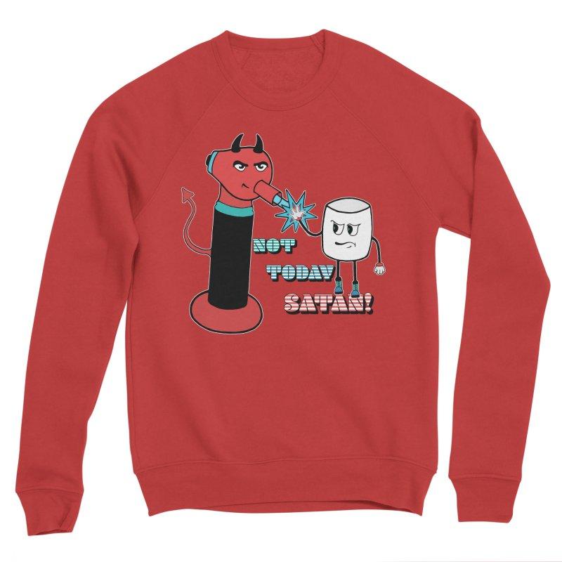 Not Today Satan! Men's Sponge Fleece Sweatshirt by Andrea Snider's Artist Shop