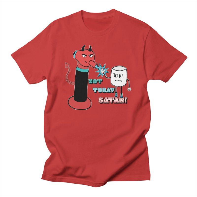 Not Today Satan! Men's T-Shirt by Andrea Snider's Artist Shop
