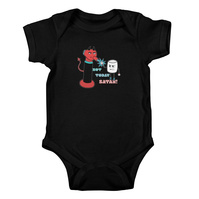 Not Today Satan! Kids Baby Bodysuit by Andrea Snider's Artist Shop