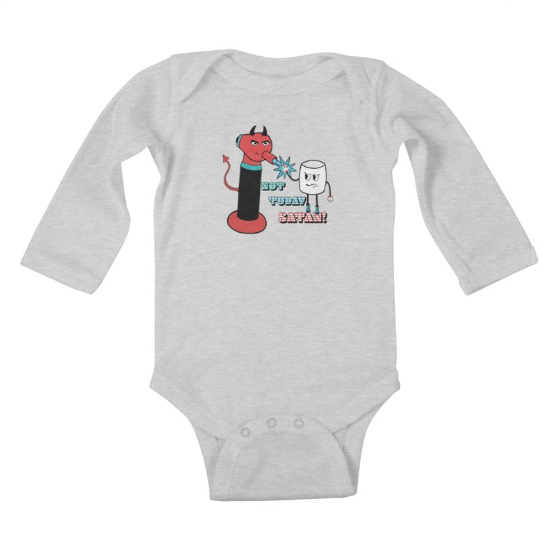 Not Today Satan! Kids Baby Longsleeve Bodysuit by Andrea Snider's Artist Shop