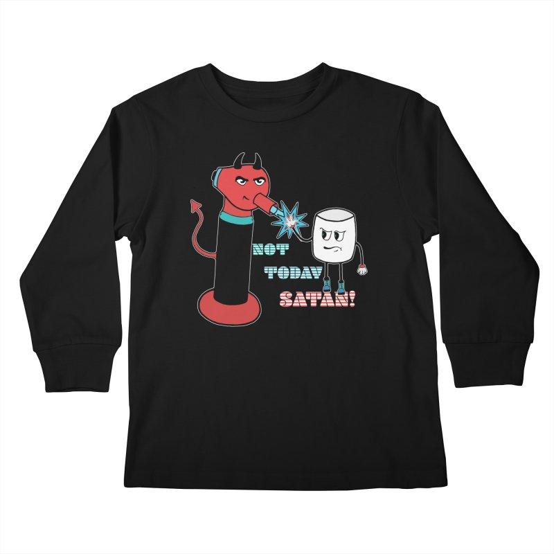 Not Today Satan! Kids Longsleeve T-Shirt by Andrea Snider's Artist Shop
