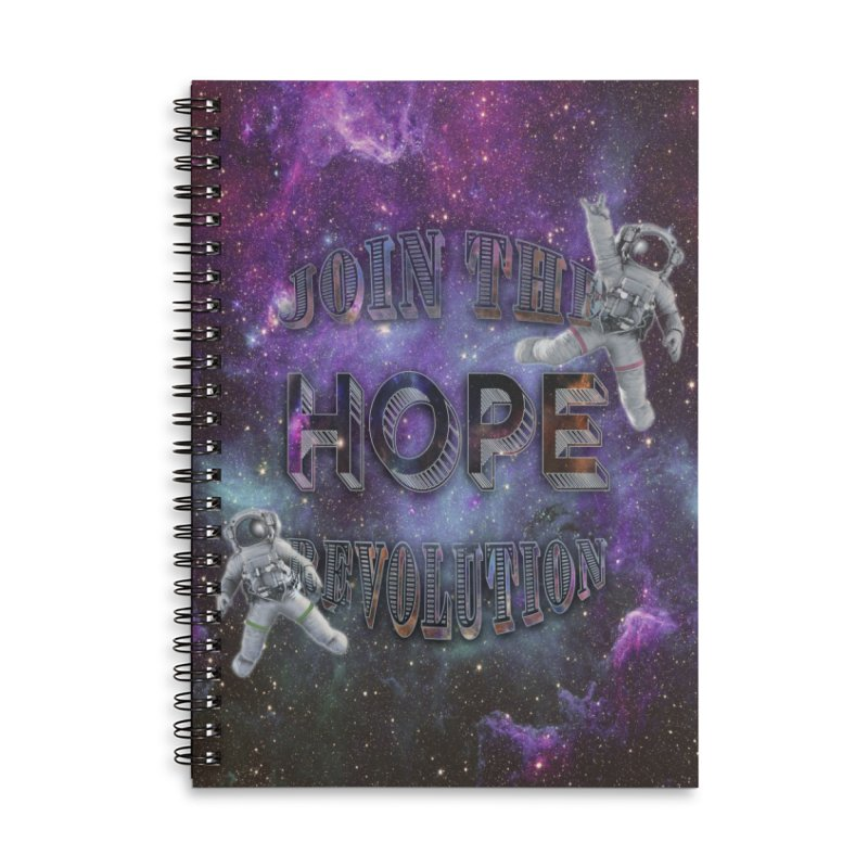 Hope Revolution. Accessories Lined Spiral Notebook by Andrea Snider's Artist Shop