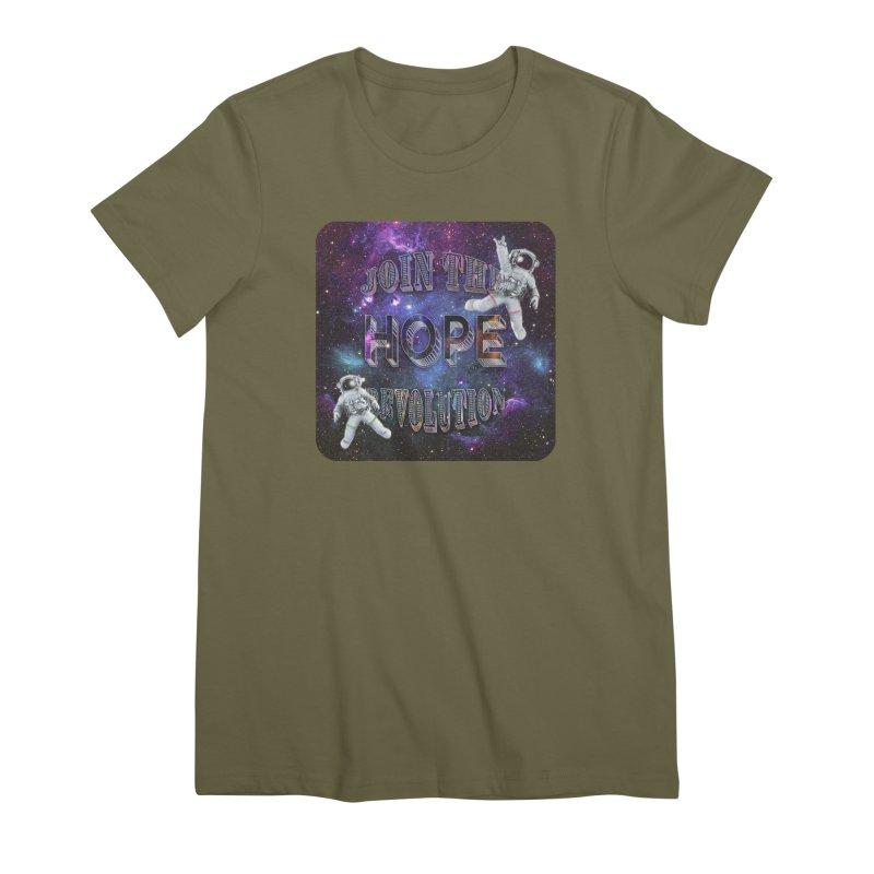 Hope Revolution. Women's Premium T-Shirt by Andrea Snider's Artist Shop