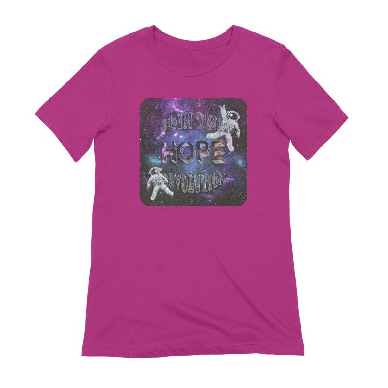 Hope Revolution. Women's Extra Soft T-Shirt by Andrea Snider's Artist Shop