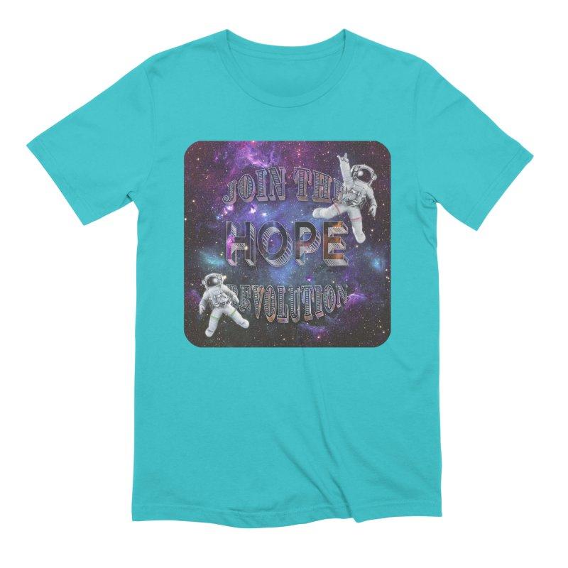 Hope Revolution. Men's Extra Soft T-Shirt by Andrea Snider's Artist Shop