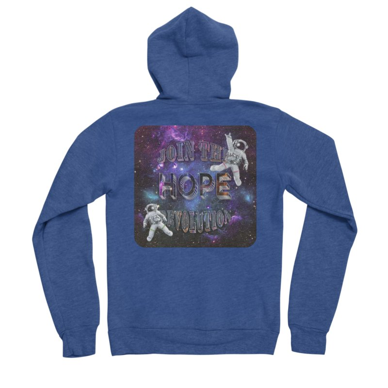 Hope Revolution. Men's Sponge Fleece Zip-Up Hoody by Andrea Snider's Artist Shop