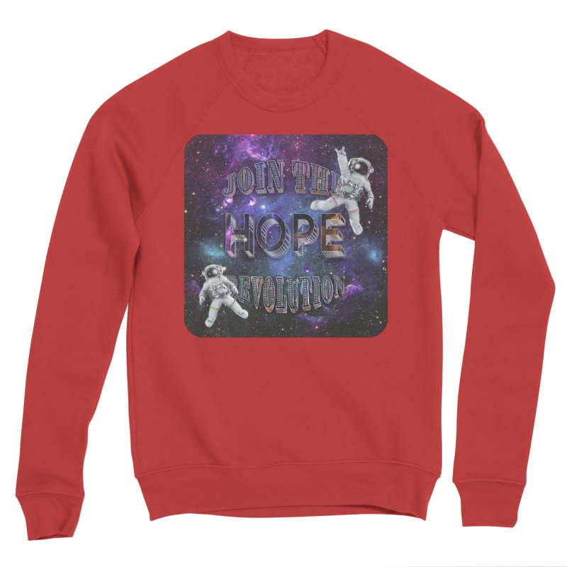 Hope Revolution. Men's Sponge Fleece Sweatshirt by Andrea Snider's Artist Shop