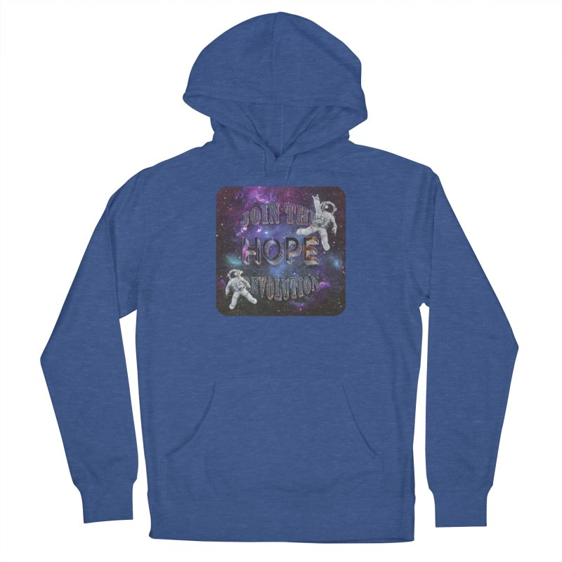 Hope Revolution. Men's French Terry Pullover Hoody by Andrea Snider's Artist Shop