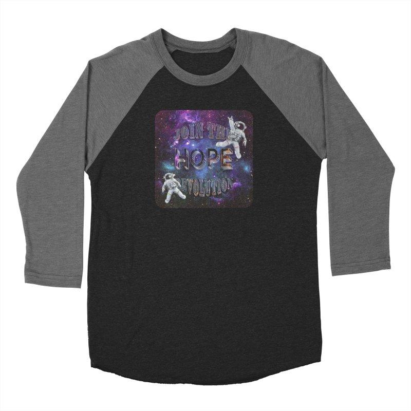 Hope Revolution. Men's Baseball Triblend Longsleeve T-Shirt by Andrea Snider's Artist Shop