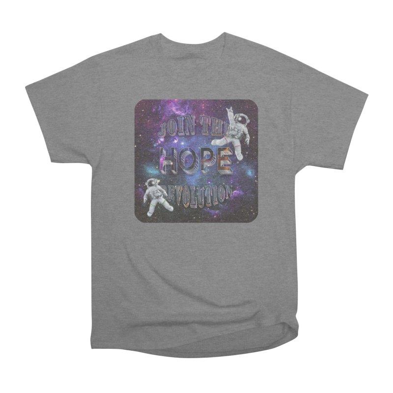 Hope Revolution. Women's Heavyweight Unisex T-Shirt by Andrea Snider's Artist Shop